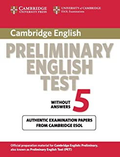Cambridge Preliminary English Test 5 Student's Book (PET Practice Tests)