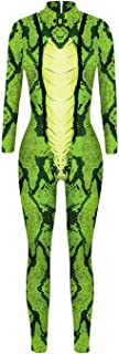 Women Girl Skinny Wild Animal Jumpsuit Bodysuit Romper Cosplay Costume