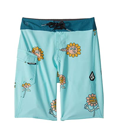 Volcom Kids Peace Stones Mod Boardshorts (Big Kids) (Seaglass) Boy
