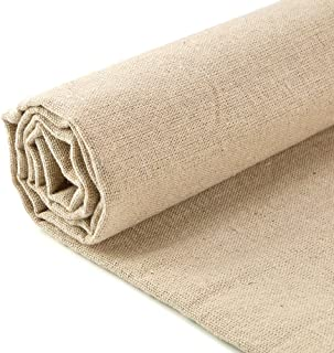 Caydo Large Linen Needlework Fabric, Embroidery Fabric for Garments Crafts Accessories, 20 by 62-Inch