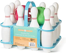 DARICE Kids Set: BPA Free, Includes 10 Pins, 2 Bowling Balls, 1 Plastic Carrying Caddy, Assorted