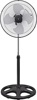 [山善] 扇風機 45cm 工業扇 スタンド式 首振り ダイヤルスイッチ 風量3段階調節 YKS-M453 [メーカー保証1年] ブラック