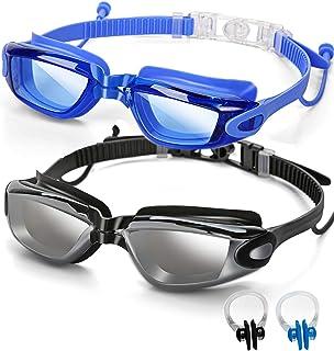 SBORTI 2 Pack Swimming Goggles Adult Women Men Youth,No Leaking,Anti Fog,UV Protection Swim Glasses Water Goggles