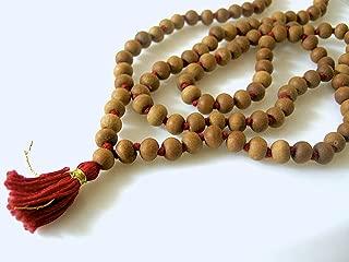 Designed Original White Sandalwood 10 mm Bead Size 108 Rosary/ 108 Safed Chandan Japa Mala - Vrindavan (3)