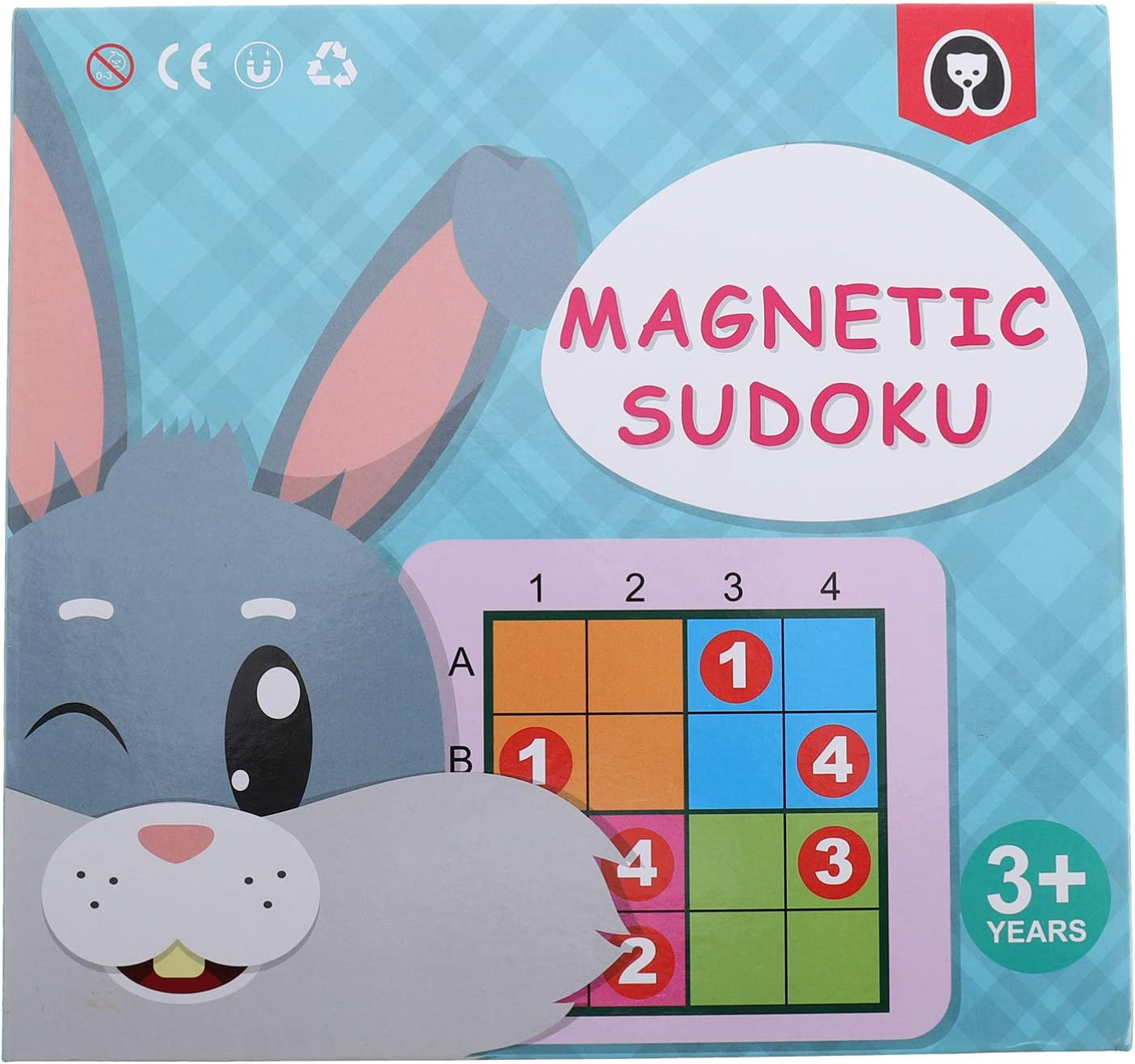 TOYANDONA 1 Set Rabbit Sudoku Puzzle Games Quality inspection Wooden Edu Brain Cash special price Game