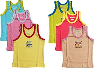Zoom boy Kids Inner wear Cotton baniyan, Sando, Vest Pack of 6 pcs