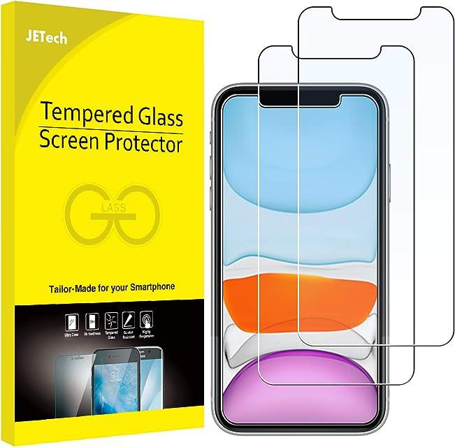 Jetech Protector de Pantalla Compatible iPhone 11 y iPhone XR 61 Vidrio Templado 2 Unidades