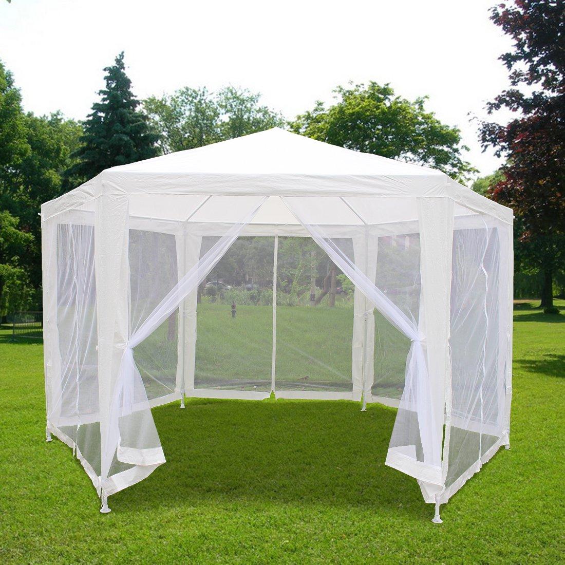 KMS – Toldo 11 x 13 jardín dosel de fiesta boda tienda de campaña Gazebo con paredes laterales de malla nettings más aire fresco y no los mosquitos: Amazon.es: Jardín