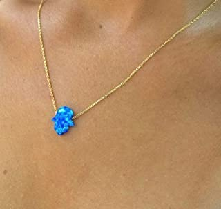 Sale 3 Pcs Blue opal Pendants Set,10-13mm,1g-h4082