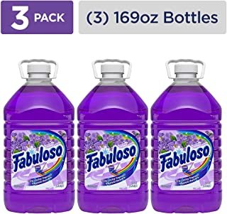 FABULOSO All Purpose Cleaner, Lavender, Bathroom Cleaner, Toilet Cleaner, Floor Cleaner, Washing Machine and Dishwasher Surface Cleaner, Mop Cleanser, 169 Fluid Ounce (Pack of 3) (153122)