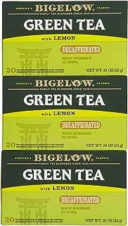 Bigelow Decaf Green Tea w/ Lemon Tea Bags - 20 ct - 3 pk
