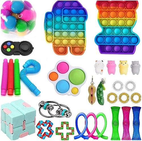 2021 30pcs Sensory Toys Pack Squeezing Anti-Stress Toys Decompression Toys for Adults Party outlet sale Favors, online Relief Toys Bubble Sensory, Fidget Toys Anxiety Relief Bubble Sensory Toy Sensory online sale