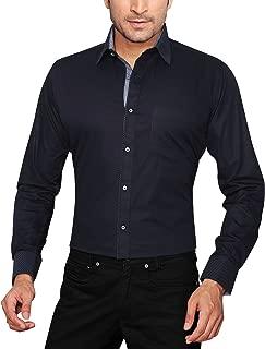 GLOBALRANG Navy Blue Casual Shirt for Men Slim Fit