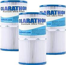Clarathon -3-Pack- Spa Filters for Watkins Hot Spring, Jetsetter, Classic. Replaces 31489, Unicel C-6430, Pleatco PWK30, Filbur FC-3915