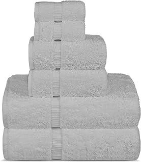 Chakir Turkish Linens Luxury Spa and Hotel Quality Premium Turkish Cotton 6-Piece Towel Set (2 x Bath Towels, 2 x Hand Tow...