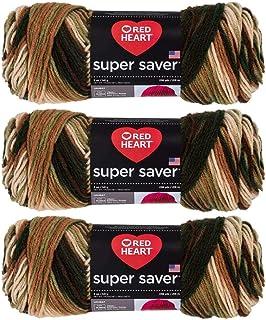 Bulk Buy: Red Heart Super Saver Yarn (3-Pack) Woodsy E300-961