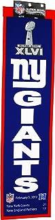 Winning Streak NFL New York Giants 8x32 Wool Heritage Super Bowl 46 Banner, Team Color, One Size