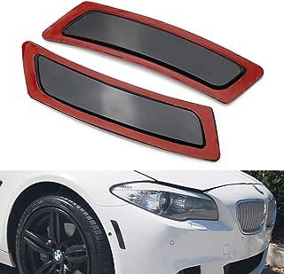 Haneex Smoke Lens Front Bumper Side Markers for 2011-16 BMW F10 F11 5 Series 525i 528i 530i 535i 545i 550i
