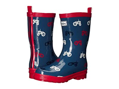 Hatley Kids Farm Tractor Rain Boots (Toddler/Little Kid) (Blue) Boy