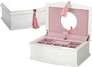 Reed & Barton Ballerina Musical Jewelry Box, 5.65 LB, White