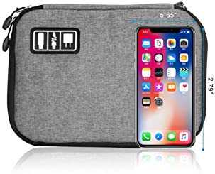 Travel Cable Organizer Bag Waterproof Portable Electronic Organizer for USB Cable Cord Phone Charger Headset Wire SD ...