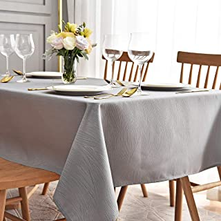 maxmill Square Table Cloth Swirl Design Water Proof Wrinkle Free Heavy Weight Soft Tablecloth Table Cover for Outdoor and ...