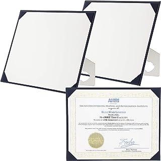 Juvale Award Certificate Holder Board Frames (3 Pack), Navy Blue