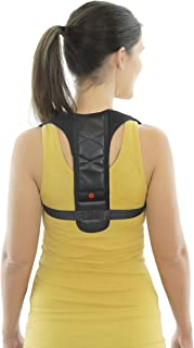 Posture Corrector by Stay Fit Master - Leather Back Support Brace with Adjustable Straps and Breathable Harness for a Comfortable Fit - Relieves Upper Back and Shoulder Pain and Prevents Slouching