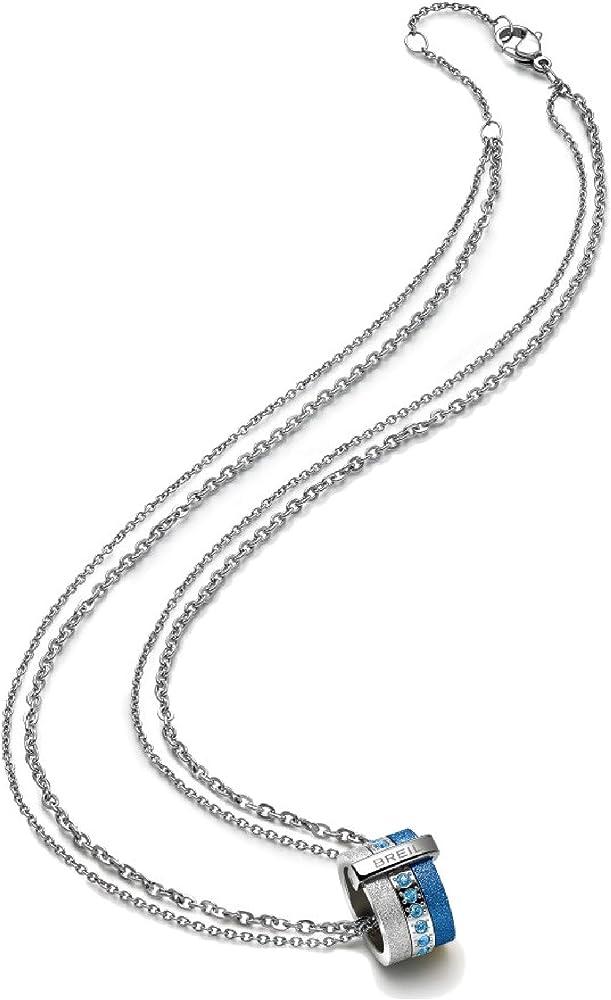 Breil collana per donna in acciaio colorato modello breilogy TJ1432