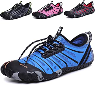 DoGeek Water Shoes Men Women for Aqua Surf Beach Wetsuit Trainers Lightweight Mesh Breathable Sandals (Choose One Larger Size)