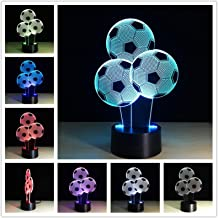 YSTSPYH Nachtlampje Creatieve 3d Bureaulamp Nachtkastje Decoratie Romantische Geschenken Kleurrijke Touch Afstandsbedienin...