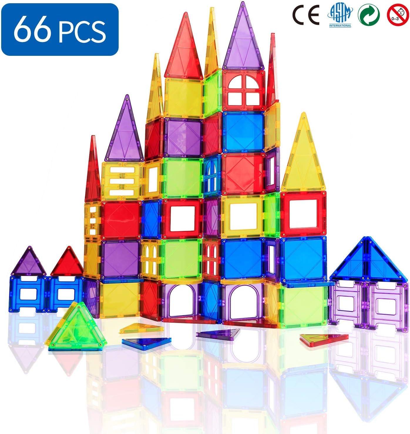 Jacksonville Mall New item Magblock 66 PCS Magnetic Building Tiles Blocks Kid for