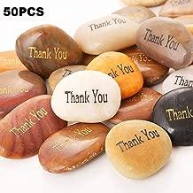 50PCS Thank You! RockImpact Thank You Stone Engraved Inspirational Stones Bulk Motivational Thank You Gifts Zen Healing Inspiring Rocks Prayer Word Stones Wholesale Thank You Rocks,2