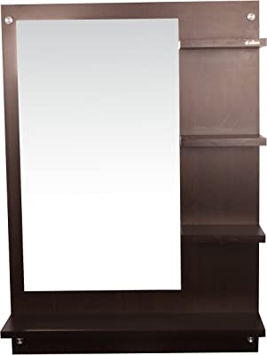 Anikaa Wood Wall Mirror (64 x 13 x 90 cm, Wenge)