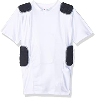 Cramer Lightning 5 Pad Football Shirt with Integrated Rib, Spine and Clavicle Pads, Football Padded Compression Shirt, Rib Protector Shirt, Padded Basketball Shirt, Protective Gear