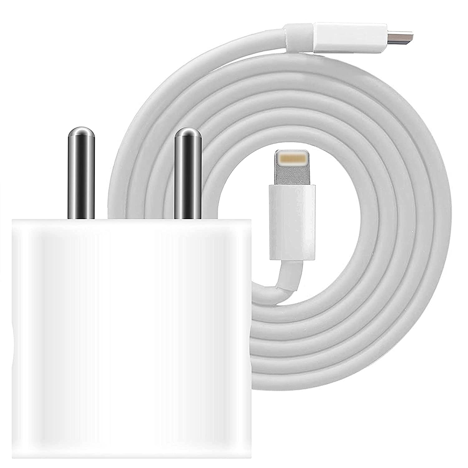 iphone 12 pro max charger price in india Crossvolt 1 watt Adapter and Cable - White : Amazon.in: Electronics