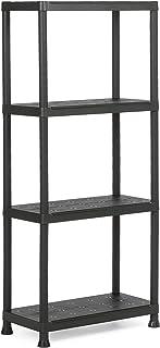 Keter Plus kunststof rek 60/4, zwart, 60 x 30 x 135 cm