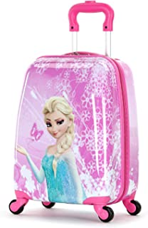 Frozen 18 Inch Luggage Hard Side Spinner Suitcase Carry on Luggage Rolling Pink 01