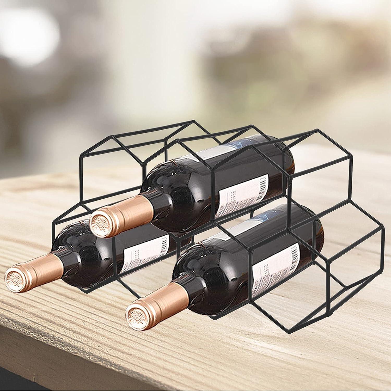 Henkelion Wine Rack 2021 new Holder trend rank Metal C Table Freestanding