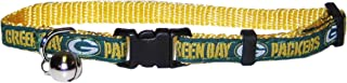 Pets First NFL CAT Collar. Strong & Adjustable Football Cat Collars with Metal Jingle Bell