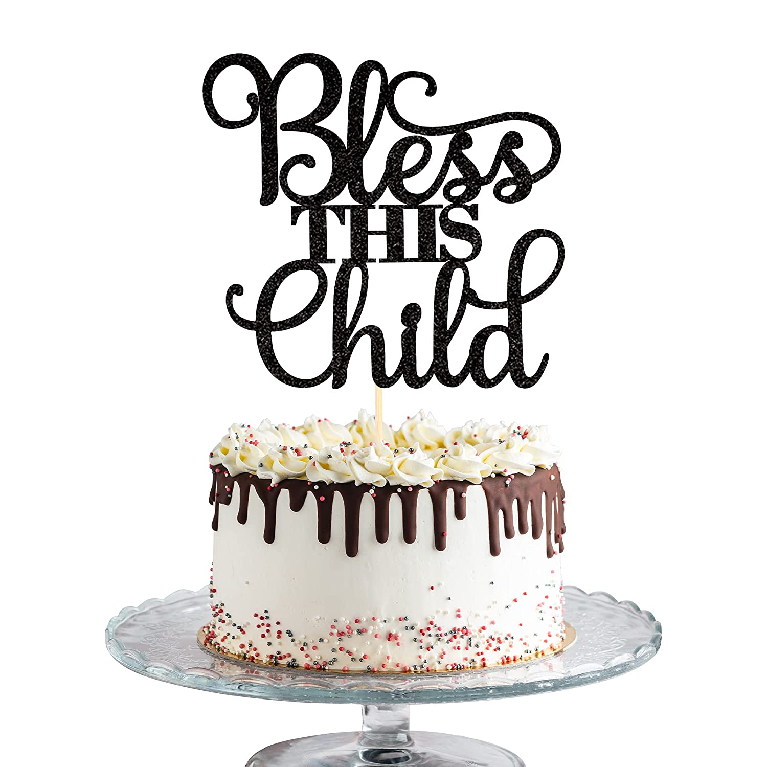 1 PCS Bless This Cheap bargain Child Cake Topper Communion Challenge the lowest price Glitter First God B