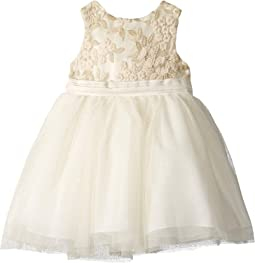 Lurex Embroidered Tulle Dress (Infant)
