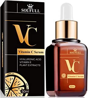 Vitamin C Serum for Face with Hyaluronic Acid to Rejuvenate Face And skin Best Serum for Anti Aging with Natural Ingredients Dark Circles Anti Wrinkl Fine Lines and Sun Damage Corrector