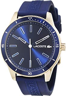 Lacoste Mens Quartz Watch, Analog Display and Silicone Strap 2011008
