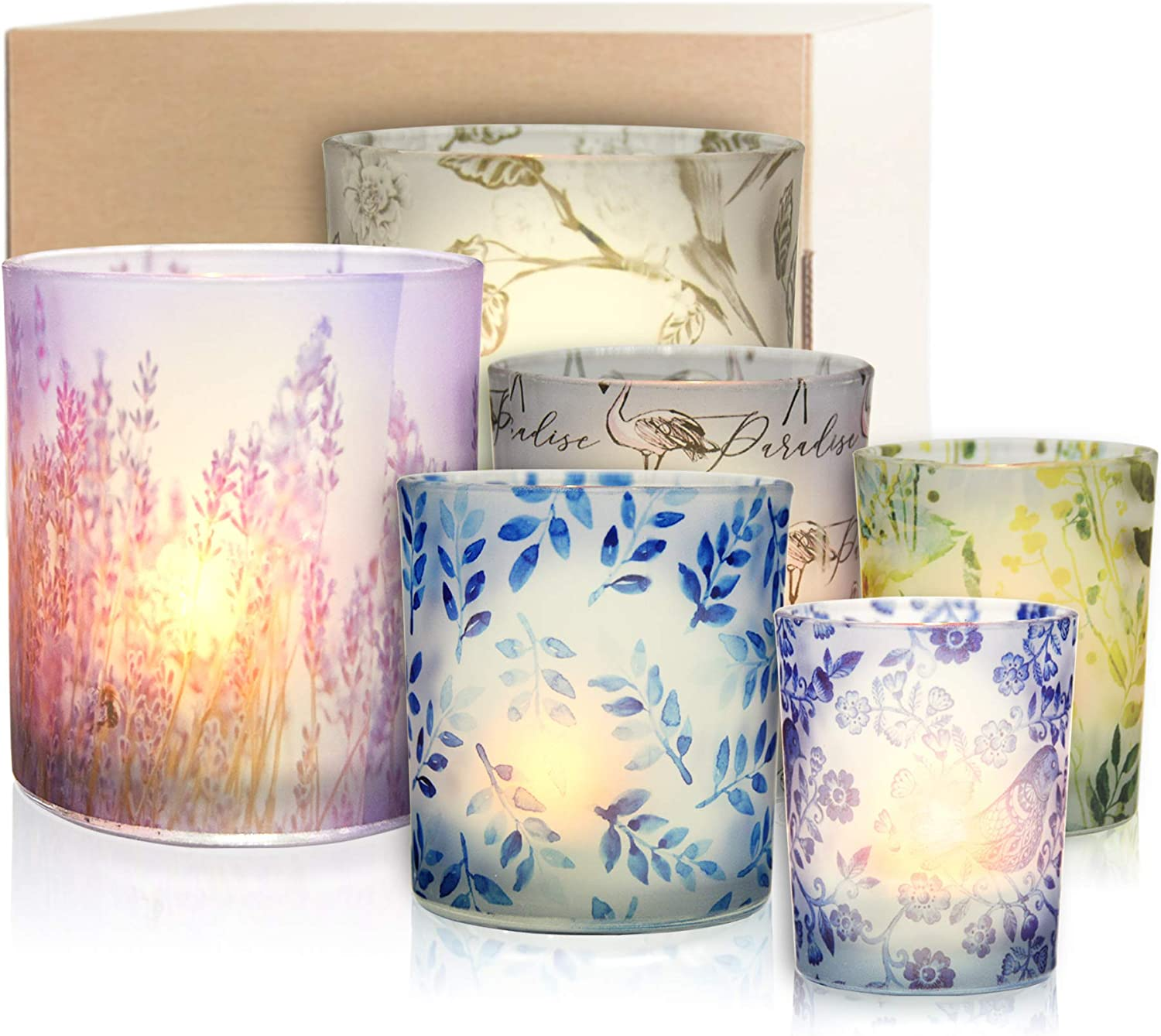 Rancco Scented Candle Holders Set of Tealight 6 Frosted Glass H OFFer Max 65% OFF