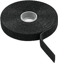 Volteck CIVE-10N Cinta reusable de contacto doble, Negro, 10 m
