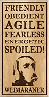 "Imagine This Weinmaraner""Spoiled!"" Wood Sign"