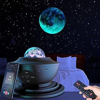 پروژکتور ستاره پروژکتور نور شب با صدای بلندگو ، پروژکتور نور سقفی موج اقیانوس ، پروژکتور برج ستاره ای برای بزرگسالان اتاق خواب / دکوراسیون / جشن تولد / مهمانی