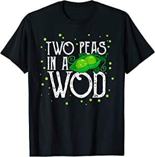 Two Peas in a WOD Workout Gym Partner Fitness Vegan Running T-Shirt