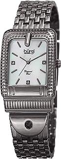 Burgi Womens Quartz Watch, Analog Display and Stainless Steel Strap BUR171GN